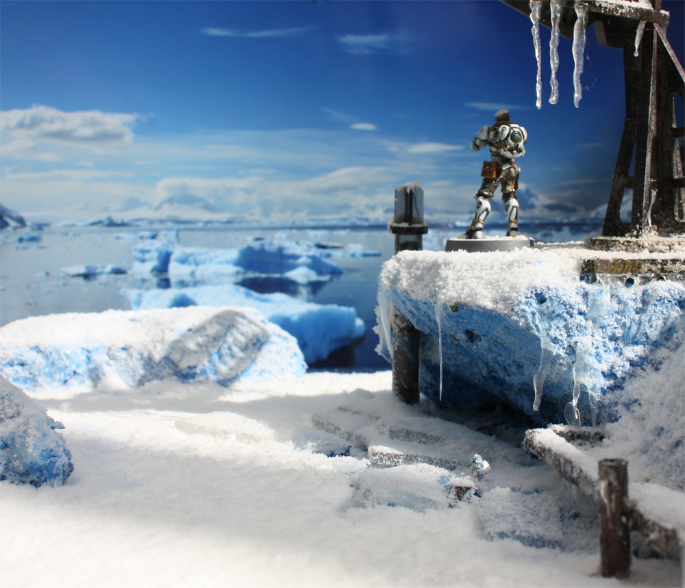How To Paint Diorama Ice Walls